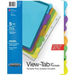 72 Bulk Wilson Jones VieW-Tab Sublect Divider With Pockets