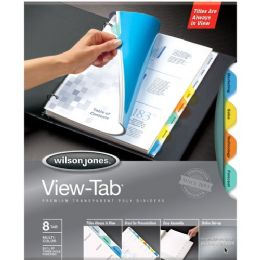 48 Bulk Wilson Jones VieW-Tab Transparent Divider
