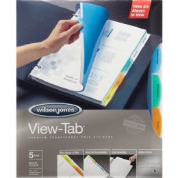 Bulk Wilson Jones VieW-Tab Transparent Divider Set