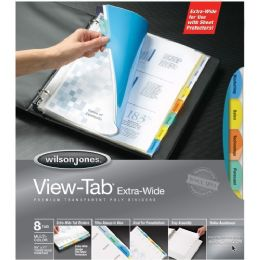 36 Bulk Wilson Jones VieW-Tab Transparent Dividers, Extra Wide