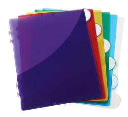 Bulk Scallop Edge 6 Tab Divider With Pocket, Assorted