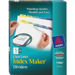 Bulk Avery 5-Colored Tabs Presentation Divider