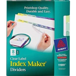 Bulk Avery 8-Colored Tabs Presentation Divider