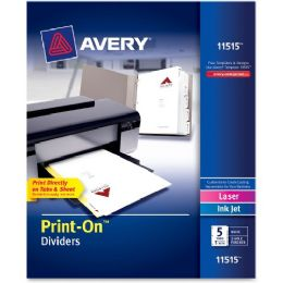 Bulk Avery Avery Customizable PrinT-On Dividers