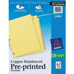 Bulk Avery A-Z Copper Reinforced Laminated Tab Divider