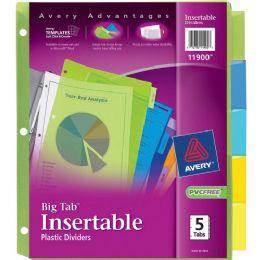 Bulk Avery Big Tab Plastic Insertable Divider