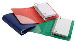 6 Bulk Oxford Poly Index Card Binders, 3 X 5, Assorted, No Color Choice, 2 Each
