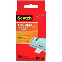 144 Bulk Scotch Thermal Laminating Pouches, Business Card Size