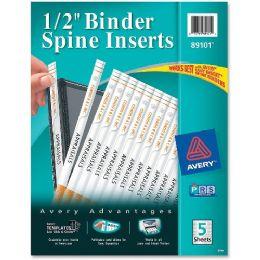 Bulk Avery Binder Spine Insert