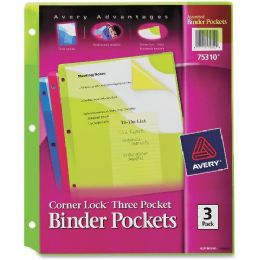 Bulk Avery Corner Lock Three Pocket Binder Pockets