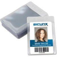 Bulk Sicurix ColoR-Coded Vinyl Badge Holders - Vertical