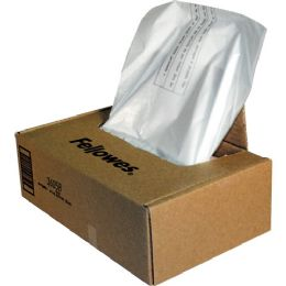 Bulk Fellowes Powershred Waste Bags For 425 And 485 Series Shredders - Taa Compliant