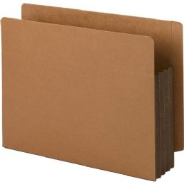 3 Bulk Smead 73681 Dark Brown Extra Wide End Tab File Pockets With Reinforced Tab And Colored Gusset