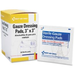 "Bulk First Aid Only 3""x3"" Gauze Pads Dispenser Box"