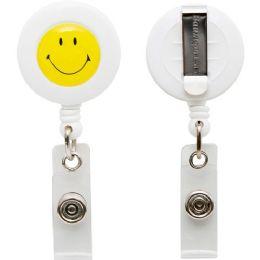Bulk Baumgartens Smiley Face Id Card Reel With Belt Clip