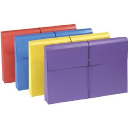 10 Bulk Smead 77300 Assortment Colored Expanding Wallets With Antimicrobial Product Protection