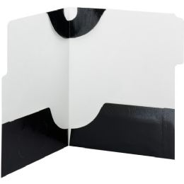 20 Bulk Smead 87963 Black Supertab TwO-Pocket File Folder
