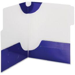 20 Bulk Smead 87964 Blue Supertab TwO-Pocket File Folder