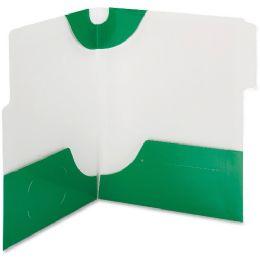 20 Bulk Smead 87965 Green Supertab TwO-Pocket File Folder