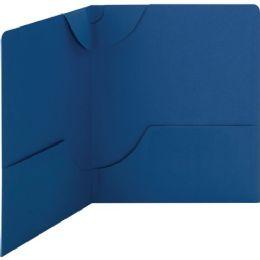 Bulk Smead 87982 Dark Blue Lockit TwO-Pocket File Folder