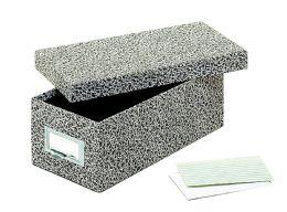 "12 Bulk GlobE-Weis Fiberboard Index Card Storage Boxes, 3"" X 5"" Card Size, Black, Agate"
