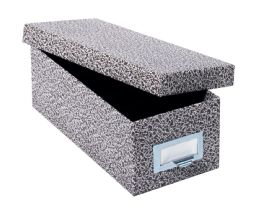 "6 Bulk GlobE-Weis Fiberboard Index Card Storage Boxes, 5"" X 8"" Card Size, Black, Agate"