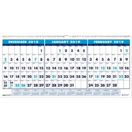 Bulk House Of Doolittle 3-Month Horizontal Wall Calendar