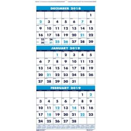Bulk House Of Doolittle 3-Month Vertical Compact Wall Calendar