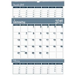 Bulk House Of Doolittle Bar Harbor Triple Month Wall Calendar