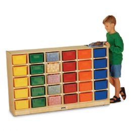 Bulk JontI-Craft 30 CubbiE-Tray Mobile Storage - With Colored Trays