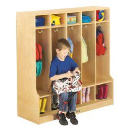 Bulk JontI-Craft 5 Section Coat Locker With Step
