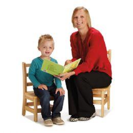 "Bulk JontI-Craft Instructors Ladderback Chair Pair - 12"" Height"
