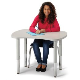 "Bulk Berries Collaborative Bowtie Table - 24"" X 35"" - Gray/gray"