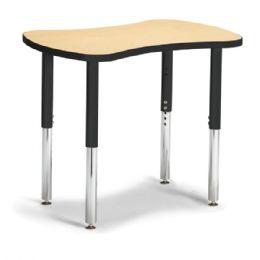 "Bulk Berries Collaborative Bowtie Table - 24"" X 35"" - Maple/black"