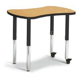 "Bulk Berries Collaborative Bowtie Table - 24"" X 35"" - Oak/black"