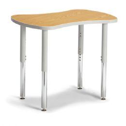 "Bulk Berries Collaborative Bowtie Table - 24"" X 35"" - Oak/gray"