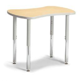"Bulk Berries Collaborative Bowtie Table - 24"" X 35"" - Maple/gray"