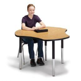 "Bulk Berries Collaborative Hub Table - 44"" X 47"" - Oak/black"