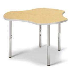 "Bulk Berries Collaborative Hub Table - 44"" X 47"" - Maple/gray"