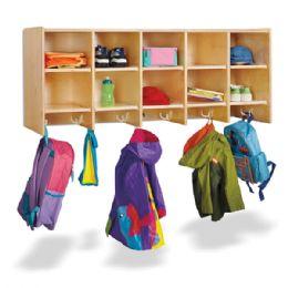 Bulk JontI-Craft 10 Section Wall Mount Coat Locker - Without Trays