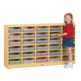 Bulk JontI-Craft 30 PapeR-Tray Mobile Storage - With Clear PapeR-Trays