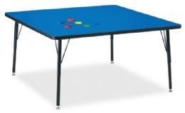 "Bulk Berries Square Activity Table - 48"" X 48"", A-Height - Blue/black/black"