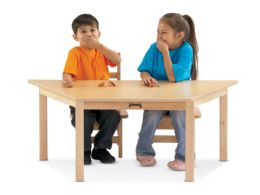"Bulk JontI-Craft MultI-Purpose Trapezoid Table - 10"" High - White"