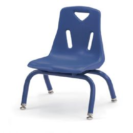 """Bulk Berries Stacking Chair With PowdeR-Coated Legs - 8"""" Ht - Blue"""