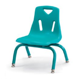 """Bulk Berries Stacking Chair With PowdeR-Coated Legs - 8"""" Ht - Teal"""