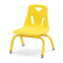 """Bulk Berries Stacking Chair With PowdeR-Coated Legs - 8"""" Ht - Yellow"""