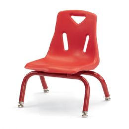 """Bulk Berries Stacking Chair With PowdeR-Coated Legs - 8"""" Ht - Red"""