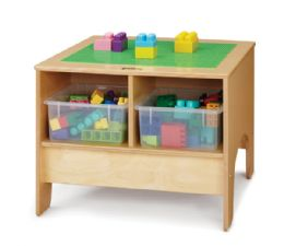 Bulk JontI-Craft Kydz Building Table - Preschool Brick Compatible - With Clear Tubs