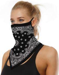 36 Bulk Assorted Printed Neck Gaiter Scarf Shield Bandana With Ear Loops Face Cover Balaclava