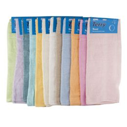 72 Bulk Bath Towel Carded Assorted Colors